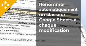Renommer automatiquement un classeur Google Sheets à chaque modification