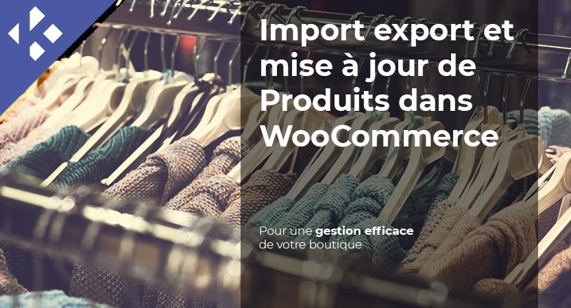 Import export et mise à jour de Produits dans WooCommerce