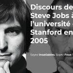 Le discours de Steve Jobs, le CEO d'Apple, lors de la remise de diplôme de l'université américaine Stanford en 2005