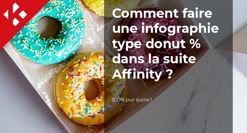 Comment faire une infographie type donut %  dans la suite Affinity ?