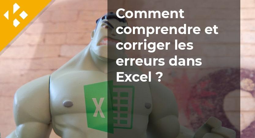 Comprendre et corriger les erreurs dans Excel - Titre