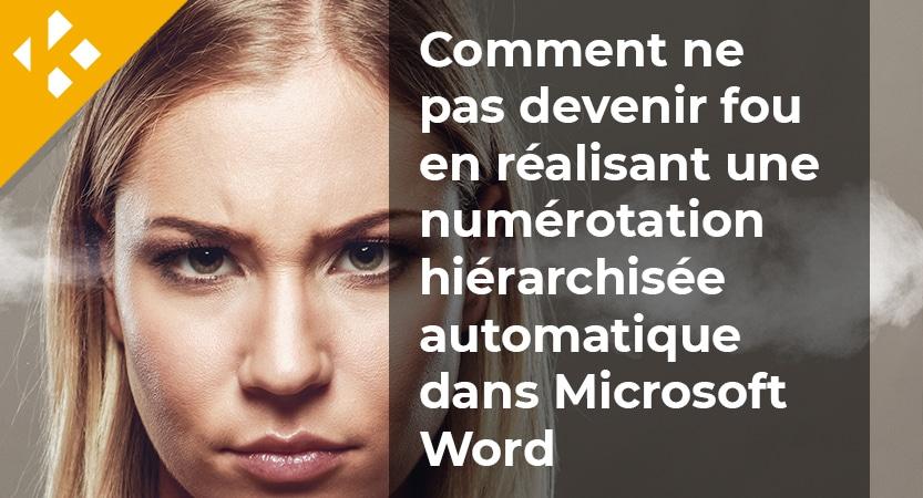 Comment ne pas devenir fou en réalisant une numérotation hiérarchisée automatique dans Microsoft Word
